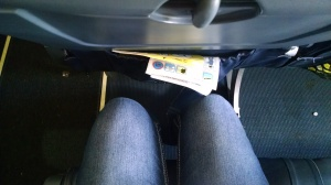 xtra leg room? maybe for a 5 yr old child!